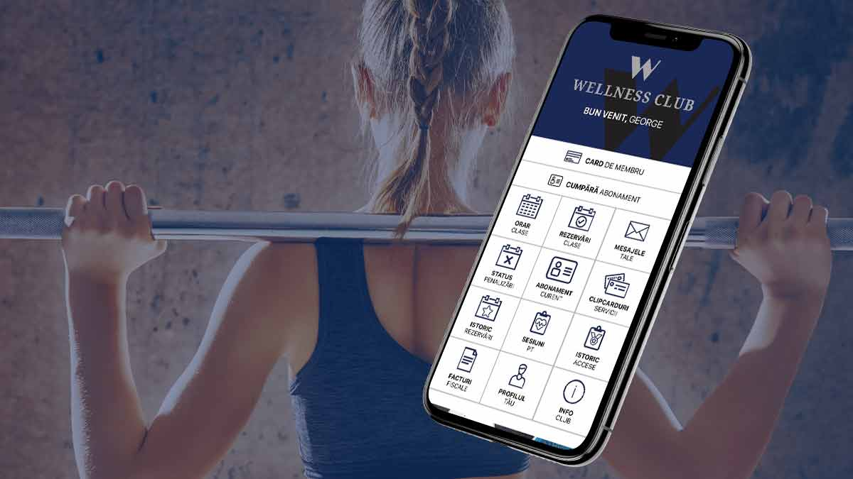 Wellness Club este pe aplicația de mobil UPfit.today